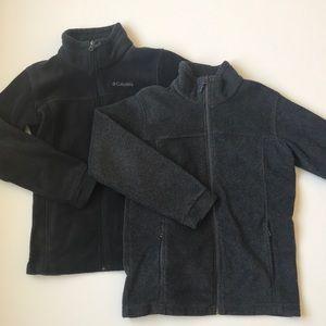 TWO Columbia jackets medium 10-12 black grey EUC